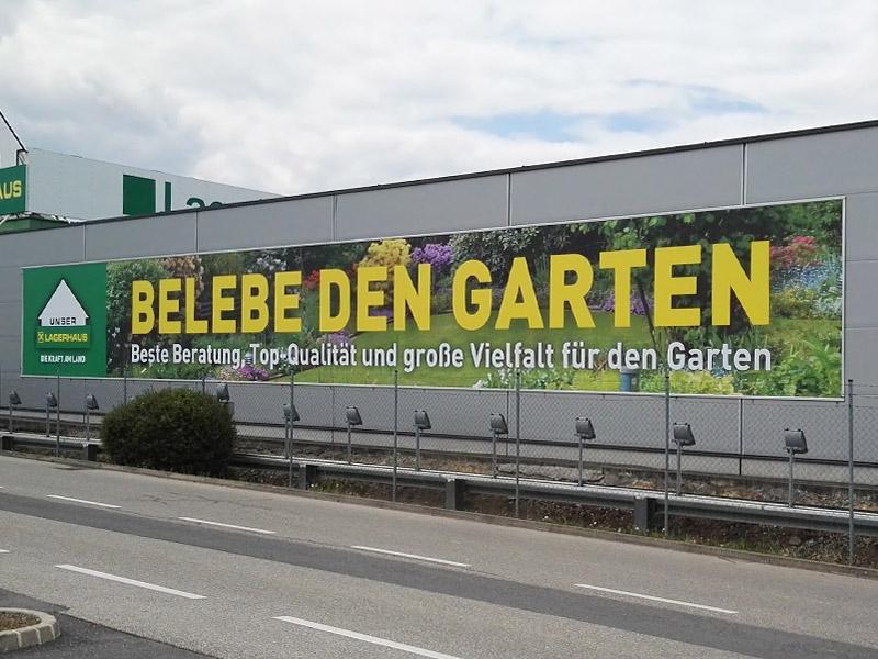 Banner Spannrahmen Lagerhaus
