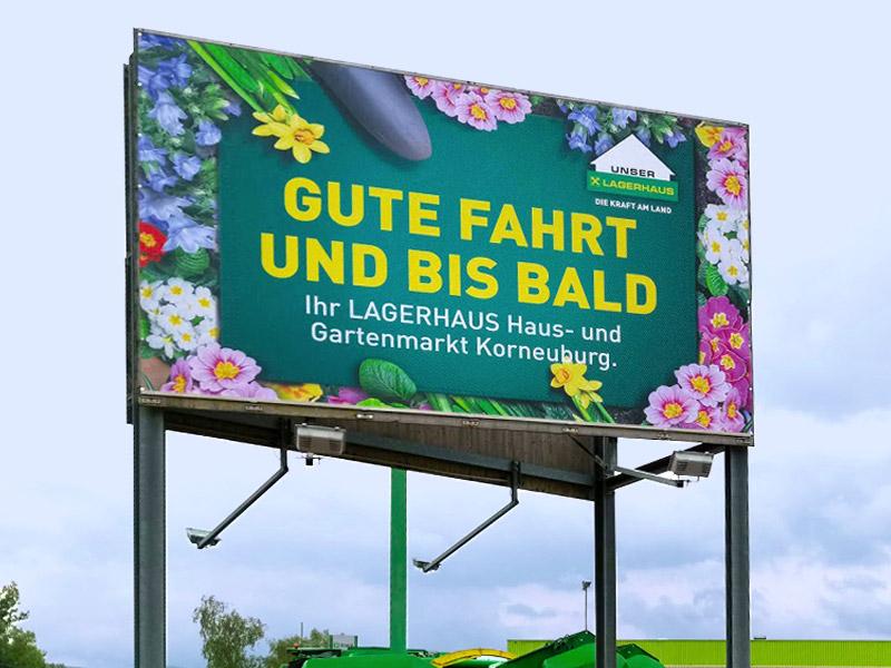 Banner Werbeanlage