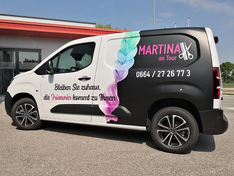 Fahrzeugbeschriftung Martina
