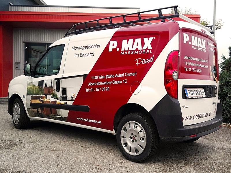Fahrzeugbeschriftung Peter Max