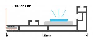 Textilspannrahmen Profil TF120 LED