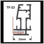 Textilspannrahmen Profil TF23