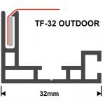 Textilspannrahmen Profil TF32 Outdoor