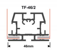 Textilspannrahmen Profil TF46