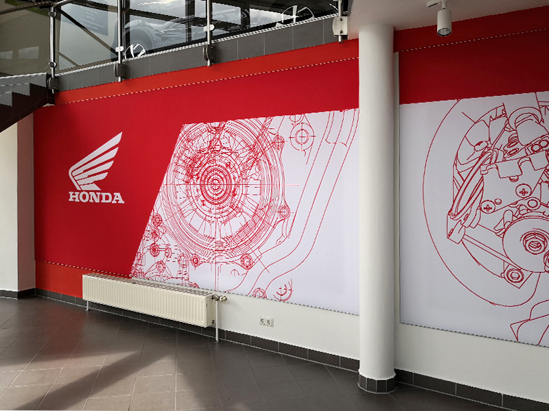 Textilspannrahmen Wand