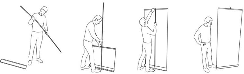 Rollup Aufbauanleitung