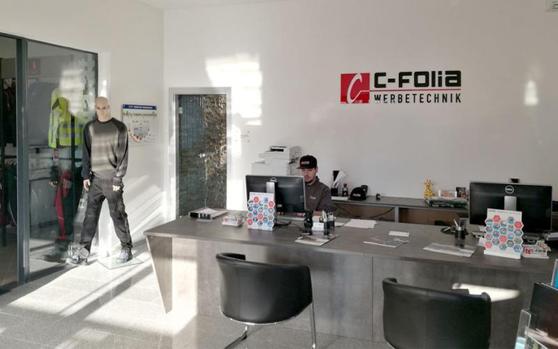 Empfang C-Folia Werbetechnik